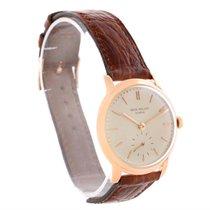 Patek Philippe Calatrava 18k Rose Gold Mechanical Mens Watch 2484