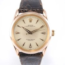 "Rolex Oyster Perpetual ""Bombay"" 6290 Pink Gold Mint..."