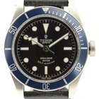 Tudor Heritage Black Bay 79220n Blue Dial On Leather  W/ Box...