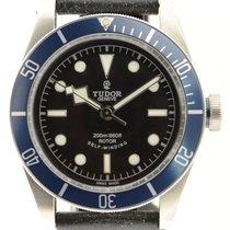 Tudor Heritage Black Bay 79220n Blue Dial On Leather  W/ Box...