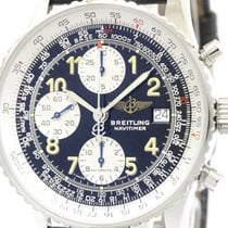 Breitling Old Navitimer Steel Leather Automatic Watch A13022.1...