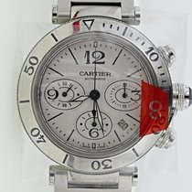 Cartier NEW  PASHA SEATIMER CHRONOGRAPH WATCH W/ BOX & PAPERS