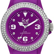 Ice Watch Stone Tycoon Swarovski Purple Polyamide Unisex Watch...