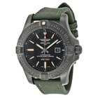 Breitling Avenger Blackbird Automatic Black Dial Green Canvas...