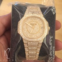 Patek Philippe 7021/1R Nautilus Lady Rose Gold Full Pavé Diamonds