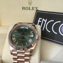 勞力士 (Rolex) 228235 Day-Date 18ct Everose Gold 40mm Green Roman