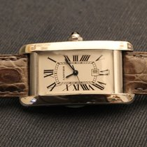 Cartier tank americaine white gold - american automatic - oro...