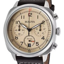 Bulova Chronograph Stainless Steel Mens Strap Watch Calendar...