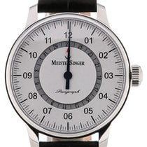 Meistersinger Perigraph 43 Automatic White Dial