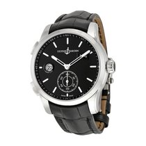 Ulysse Nardin Dual Time Manufacture Black Dial Automatic Mens...