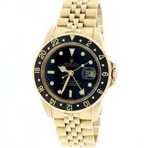 Rolex GMT-Master Yellow Gold 40MM Black Dial/Bezel Jubilee 16758