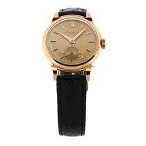 Patek Philippe 1953 18k Rose Gold Calatrava Mens Watch 1491