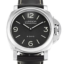 Panerai Luminor Base 8 Days Acciaio 44MM Leather Men's...