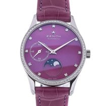 Zenith Elite 33 Automatic Moon Phase Purple Leather