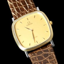 Omega De Ville Mens Midsize Dress Watch - Solid 18K Gold and...