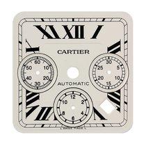 Cartier Santos 100 Chrono XL White/Black Roman Numerals Custom...