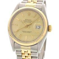 Rolex Men's Vintage Rolex DateJust 16014 18k YG / SS