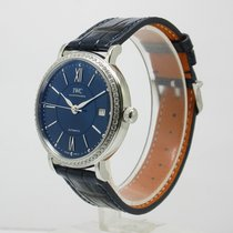 IWC IW458111 Portofino Automatic Mid Size Diamond Blue Dial 37mm