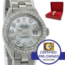 Rolex DateJust 26mm 6916 Steel MOP Diamond Bezel Watch