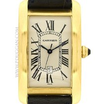 Cartier 18k yellow gold Gent's Tank Americaine