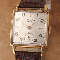 Hermès Paris Swiss Made 1950s Manual Gold Plated Men's...