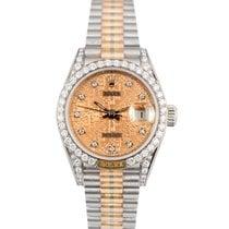 Ρολεξ (Rolex) Datejust Ladies Tridor 18k Factory Diamond Dial...