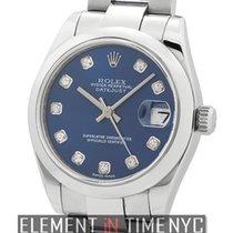 Rolex Datejust Steel 31mm Domed Bezel Blue Diamond Dial 2007...