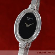 Chopard Lady 18k (0,750) Weiss Gold Damenuhr Diamanten Handaufzug