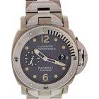 Panerai Men's  Luminor Submersible Titanium Watch PAM106