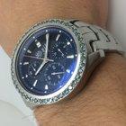 TAG Heuer Clear back & 2 carat blue diamond bezel Link