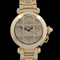 Cartier Pasha 18.K.Gelbgold 32mm -Automatik- Originalbesatz  AAW