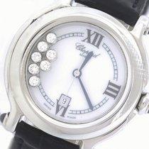 Chopard Happy Diamond Sport 8236 Stainless Leather Swiss Quartz