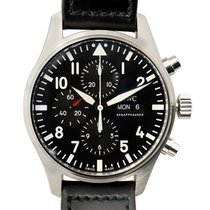 IWC Pilots Stainless Steel Black Automatic IW377709