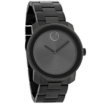 Movado Bold Mens Grey Ion Plated Stainless Steel Band Swiss...