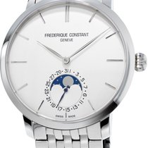 Frederique Constant Slimline Moonphase Stainless Steel...