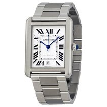 Cartier Tank Solo XL Automatic Silver Dial Stainless Steel...