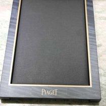 Piaget vassoio porta orologi vintage wooden and leather