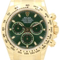 Rolex Cosmograph Daytona 116508 40mm Green Index Yellow Gold...