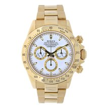 Rolex DAYTONA 18K Yellow Gold Watch White Dial