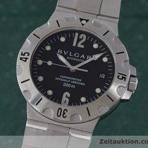 Bulgari Diagono Chronometer 200m Automatik Edelstahl Herrenuhr...