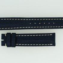 Breitling Kalbslederband 18/16 Länge 115/75 Blau