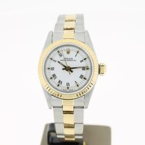 Rolex Oyster Perpertual Steel/Gold White Roman Dial (BOX1993)...