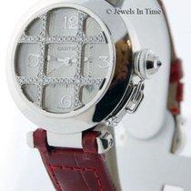 Cartier Pasha 32mm 18K White Gold & Diamond Automatic