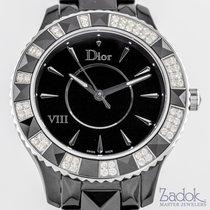Dior VIII Black Ceramic Case 56 Diamonds on Bezel Ladies' 39mm...
