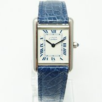Cartier TANK Must de Cartier Silber Quarz kleines Model PM