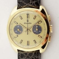 Nivada 18K Gold 2-Register Chronograph