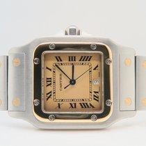 Cartier Santos Galbee 18k Gold Steel Bronze Special Dial