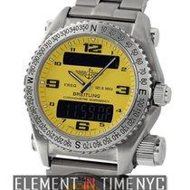 Breitling Emergency UTC SuperQuartz Titanium 43mm Yellow Dial...