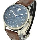 IWC Portuguese Perpetual Calendar - White Gold on Brown...