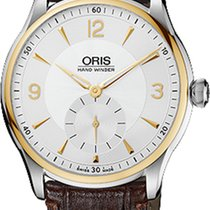 Oris Artelier Hand Winding, Small Second NEU mit B+ P